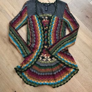 Forever 21 rainbow crochet sweater!
